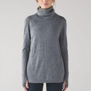 Lululemon Sweat & Savasana Wool Turtleneck Sweater
